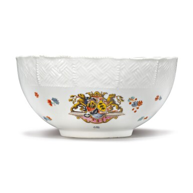 View 1. Thumbnail of Lot 388. A MEISSEN ARMORIAL WASTE-BOWL FROM THE 'SULKOWSKI SERVICE' CIRCA 1738.