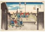 UTAGAWA HIROSHIGE I (1797–1858), EDO PERIOD, 19TH CENTURY | NIHONBASHI: MORNING SCENE (NIHONBASHI, ASA NO KEI)