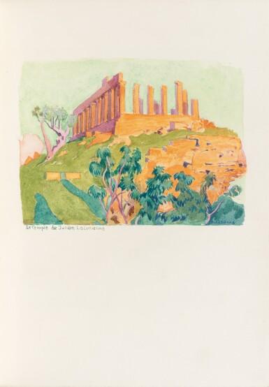 View 3. Thumbnail of Lot 129. Carnets de voyage en Italie, 1925. Avec deux aquarelles originales de Denis.