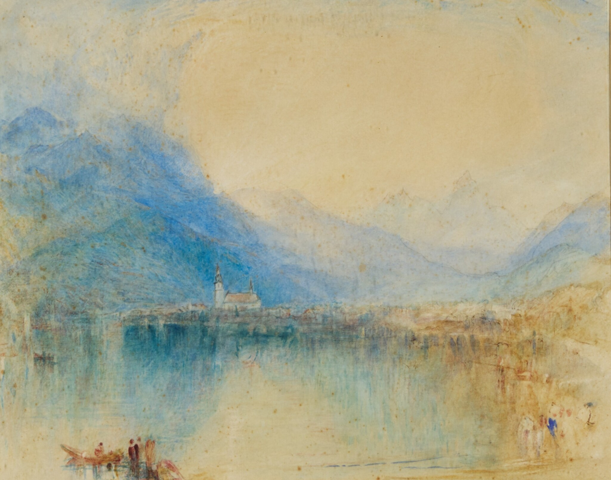 View full screen - View 1 of Lot 66. WILLIAM WARD | Arth, on the Lake of Zug, Switzerland (Early Morning), after Joseph Mallord William Turner, R.A..