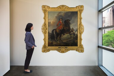 View 4. Thumbnail of Lot 144. Equestrian Portrait of King William III (1650-1702), a battle beyond.