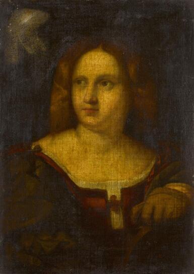 CIRCLE OF JACOPO NEGRETTI CALLED PALMA IL VECCHIO | Saint Catherine of Alexandria