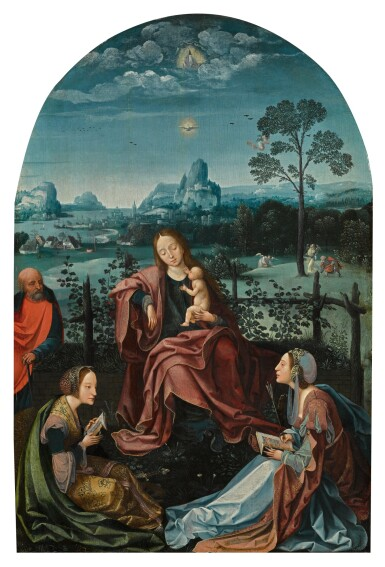 View 1. Thumbnail of Lot 7. The Holy Family with Saints Catherine and Ursula | 《聖家與聖凱薩琳及烏蘇拉》.
