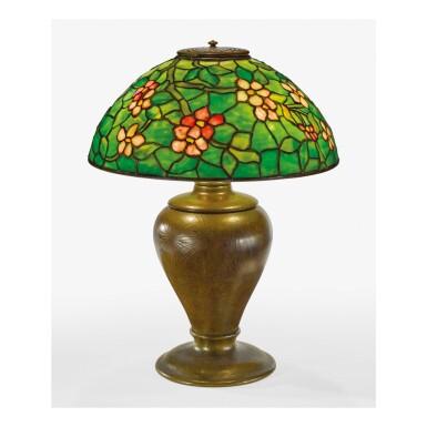 "TIFFANY STUDIOS   ""APPLE BLOSSOM"" TABLE LAMP"