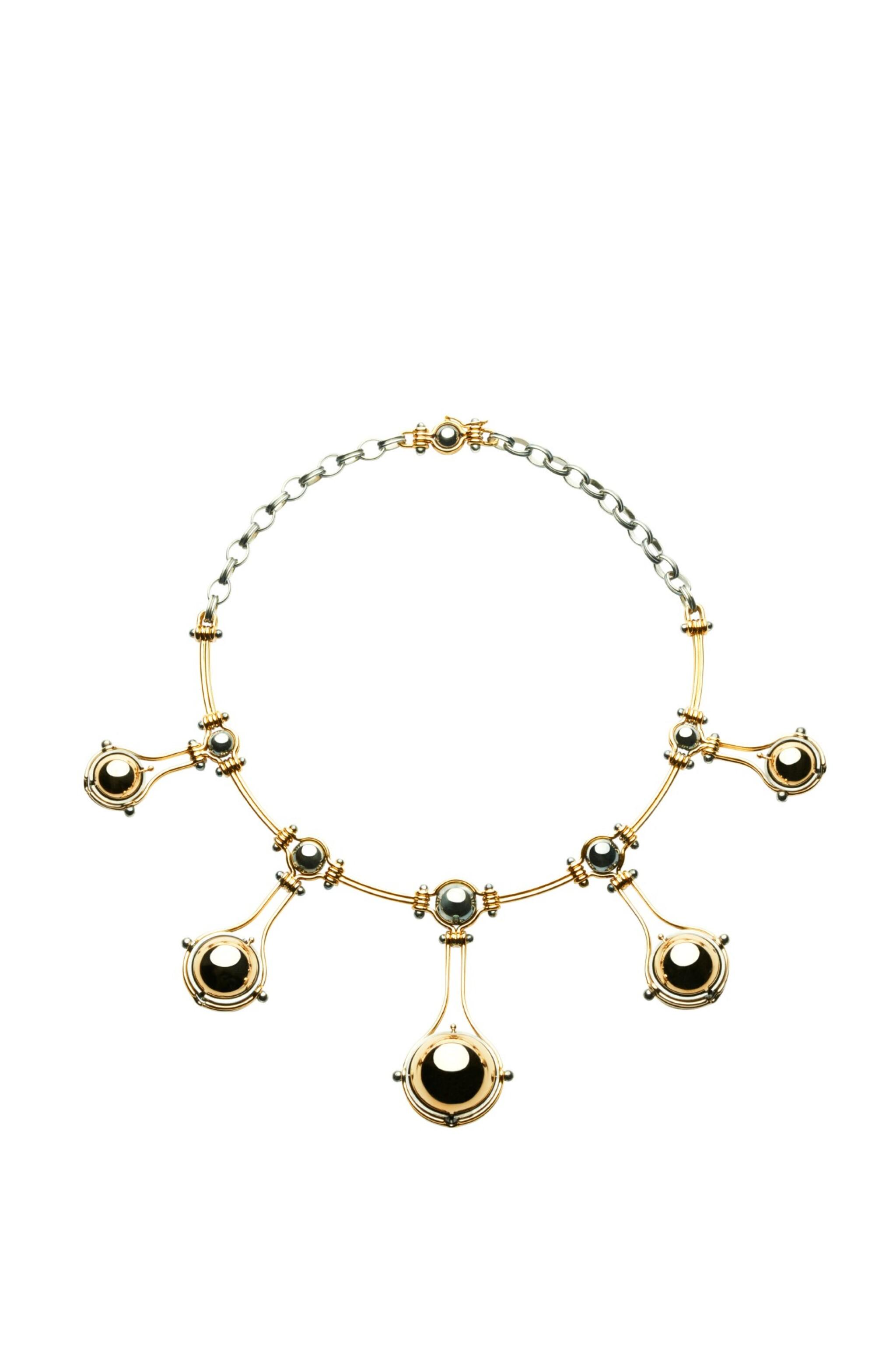 View full screen - View 1 of Lot 7. Elie Top, Gem-Set and Diamond Necklace [Collier Pierres de Couleur et Diamants], 'Cinq Sphères'.
