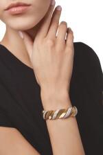 GOLD AND DIAMOND BRACELET, CARTIER, PARIS | 黃金鑲鑽石手鏈,卡地亞