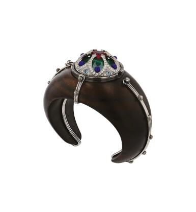 View 1. Thumbnail of Lot 6. Elie Top, Ebony, Gem-Set and Diamond Bracelet [Bracelet Ébène, Pierres de Couleur et Diamants], 'Desdémone'.