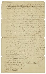 Allen, Ethan. Land deed signed, [New York City], 6 August 1785