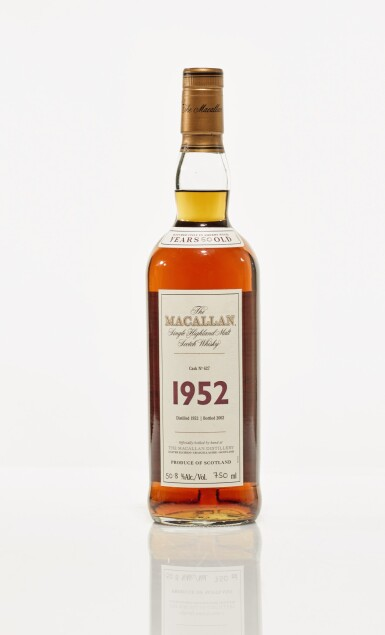 View 1. Thumbnail of Lot 9. The Macallan Fine & Rare 50 Year Old 50.8 abv 1952 (1 BT75cl).