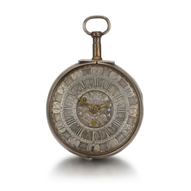 View 1. Thumbnail of Lot 270. CONTINENTAL   A SILVER VERGE WATCH WITH DATE, CIRCA 1710.