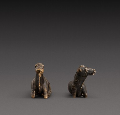 View 3. Thumbnail of Lot 157. Indo-European, possibly 17th century | Pair of Animals.