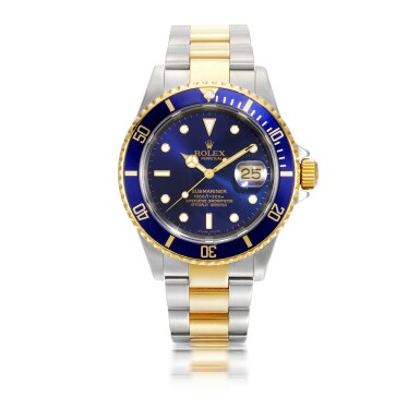 ROLEX | SUBMARINER, REF 16613, YELLOW GOLD AND STAINLESS STEEL WRISTWATCH WITH DATE AND BRACELET CIRCA 2004