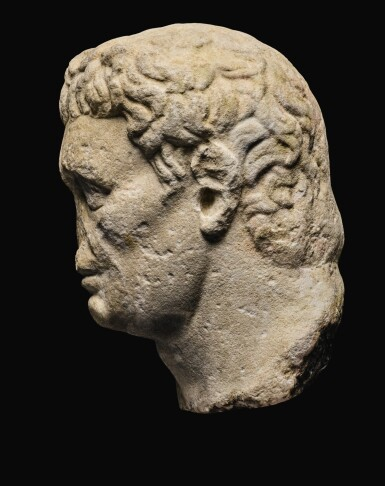 View 3. Thumbnail of Lot 41. A ROMAN MONUMENTAL MARBLE PORTRAIT HEAD OF NERVA, LATE 1ST CENTURY A.D..