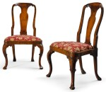 A PAIR OF GEORGE I WALNUT SIDE CHAIRS, CIRCA 1720