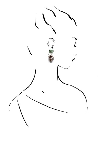 View 4. Thumbnail of Lot 40. MICHELE DELLA VALLE | TSAVORITE GARNET, ENAMEL AND DIAMOND EAR CLIPS, 'PIGNE'.