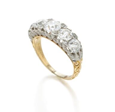View 3. Thumbnail of Lot 7. Diamond ring (Anello in diamanti).