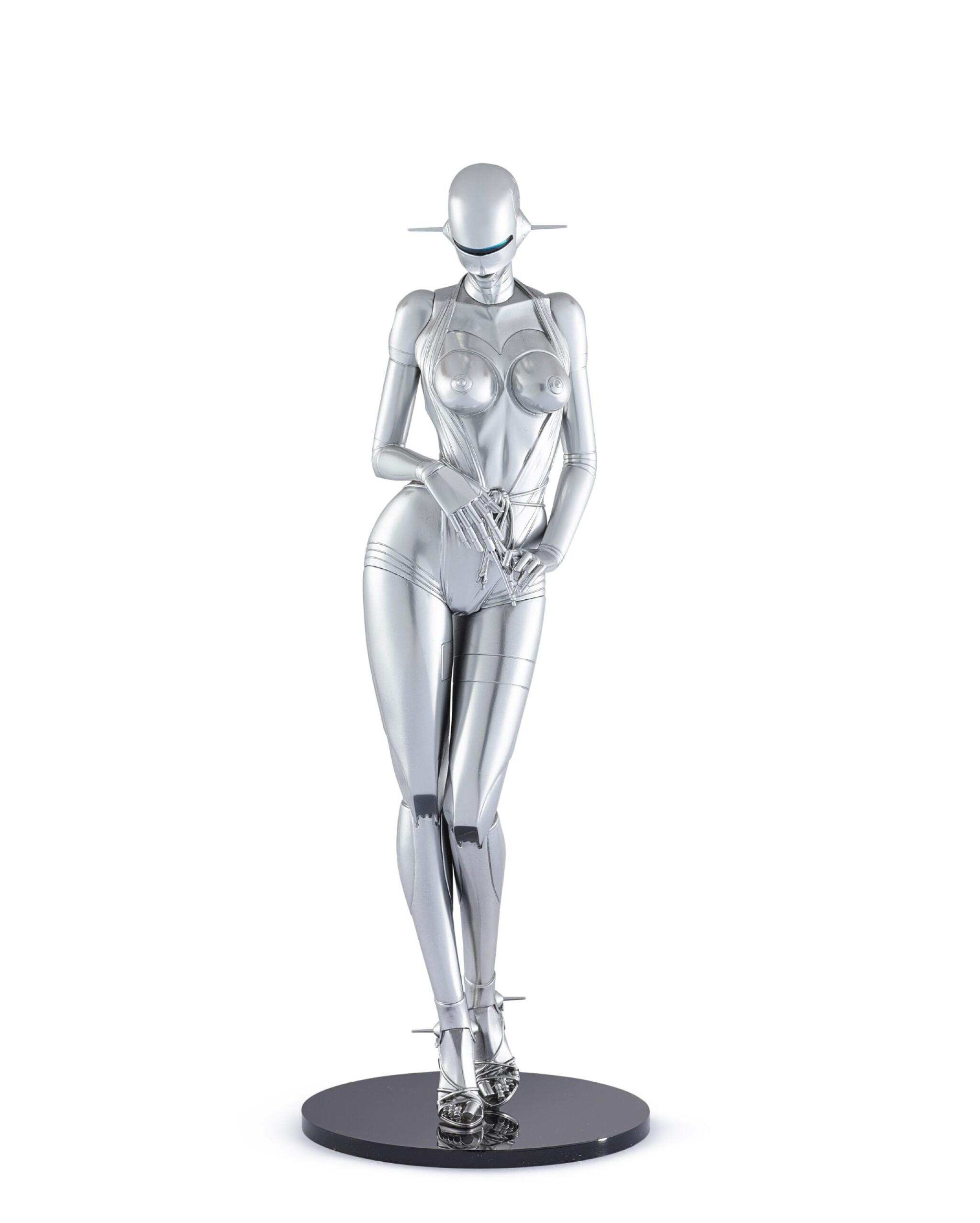 View full screen - View 1 of Lot 9034.  空山基 Hajime Sorayama | 性感機器人 ─ 站立型號A Sexy Robot - Standing Model A.
