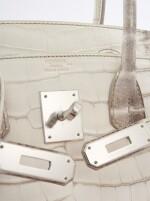A matte Niloticus Crocodile and palladium hardware, Himalaya Birkin 30, Hermès, 2015