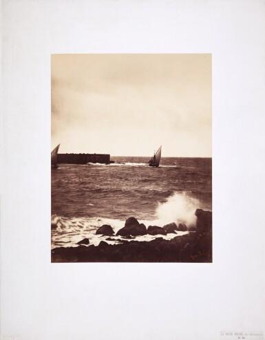 View 2. Thumbnail of Lot 26. 'La Vague Brisée, Mer Méditeranée No 15', (The Breaking Wave), 1857.