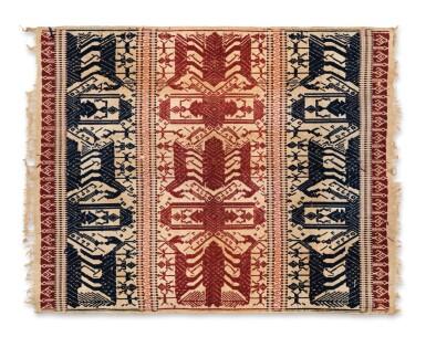 """View 8. Thumbnail of Lot 4. Deux tissus cérémoniels """"à jonques"""" tampan, Lampung, Sumatra, Indonésie, début du 20e siècle   Two ceremonial """"ship clothes"""" tampan, Lampung, Sumatra, Indonesia, early 20th century."""