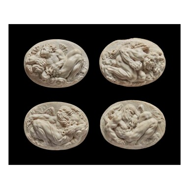 View 1. Thumbnail of Lot 117.  Four Reliefs with Personifications of the Winds.