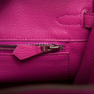 View 8. Thumbnail of Lot 4. Hermès Magnolia Togo Birkin 25cm Palladium Hardware.