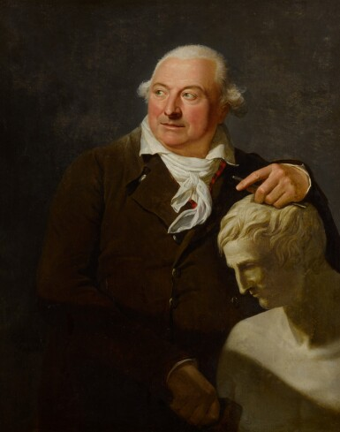 View 2. Thumbnail of Lot 115. Portrait of a sculptor with a marble bust.