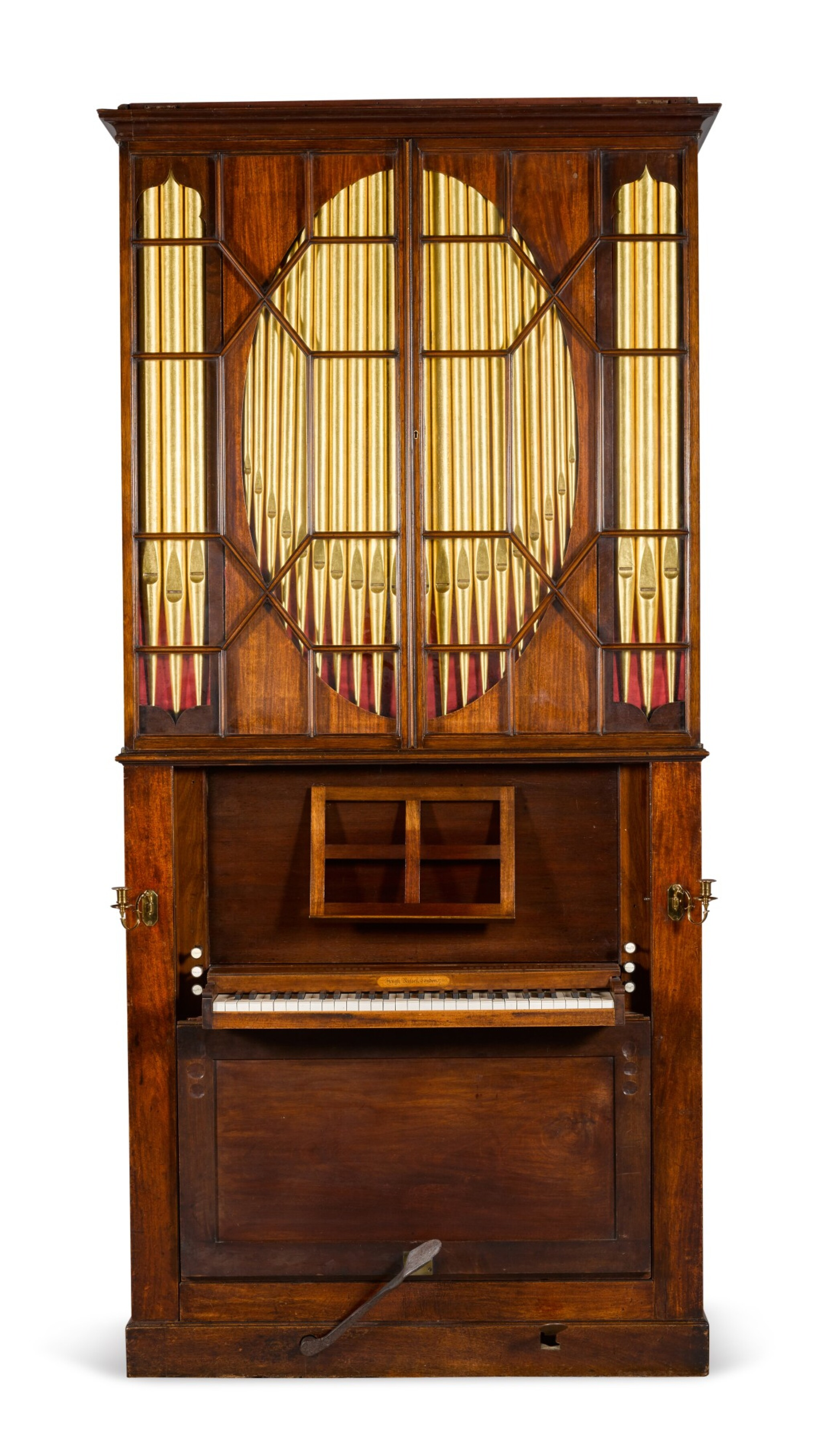 View full screen - View 1 of Lot 167. A George III mahogany chamber organ by Hugh Russell, 1780.