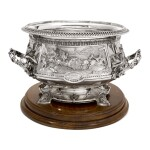 A VICTORIAN SILVER LARGE PUNCH BOWL, JOHN HUNT & ROBERT ROSKELL, LONDON, 1881