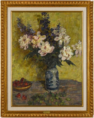 View 2. Thumbnail of Lot 151. Still Life with Peonies.