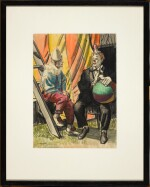 DAME LAURA KNIGHT, R.A., R.W.S. | The Clowns Marba and Randy;Herbert Hansonthe Acrobat