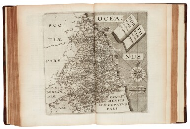 View 3. Thumbnail of Lot 42. William Camden | Britannia, London, 1607, old reversed calf.