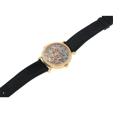 View 7. Thumbnail of Lot 182. REFERENCE 30030 A PINK GOLD SKELETONIZED MINUTE REPEATING WRISTWATCH, CIRCA 1995.
