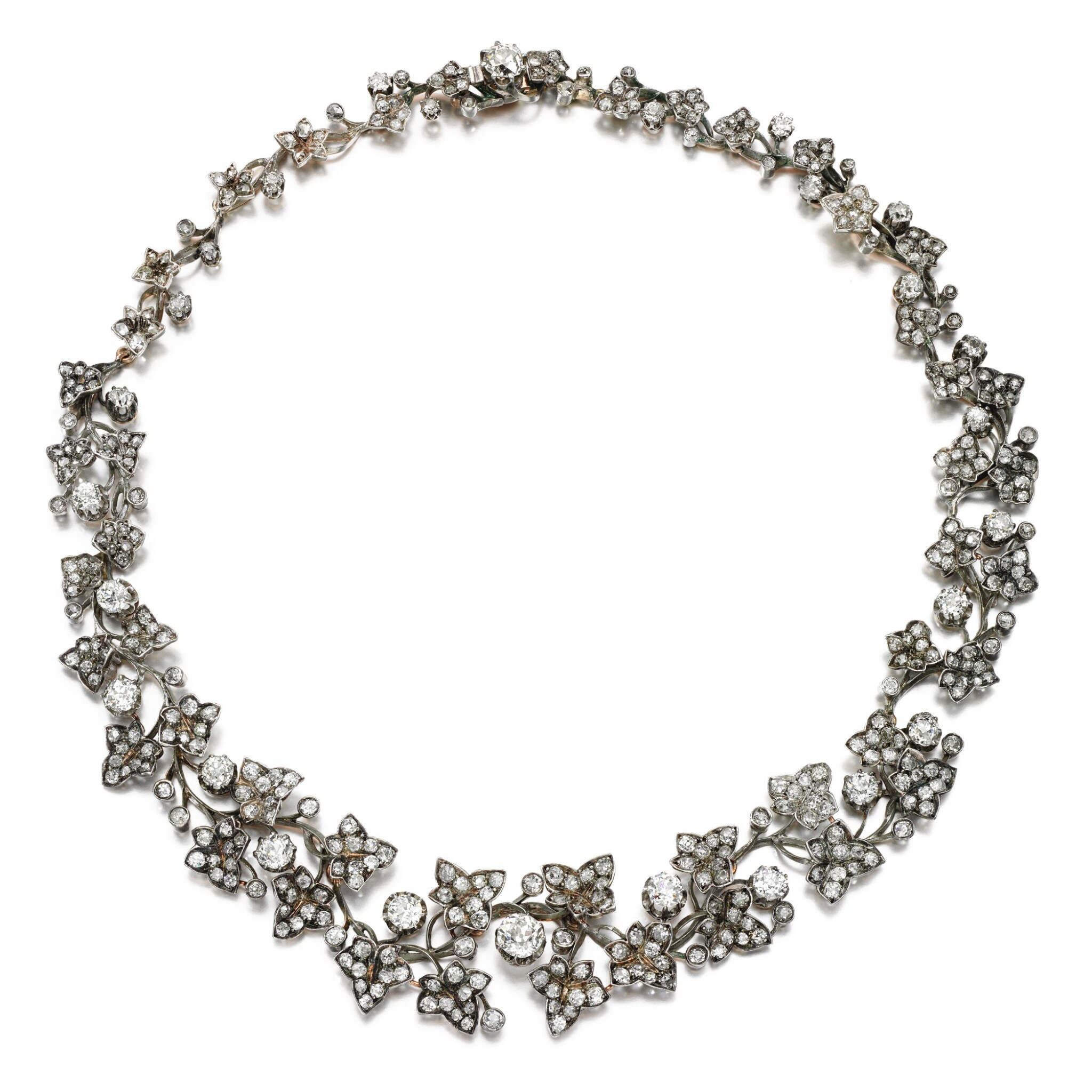 View full screen - View 1 of Lot 330. Diamond necklace, 1880s.