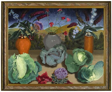View 2. Thumbnail of Lot 61. SIR CEDRIC MORRIS  |  CABBAGES.