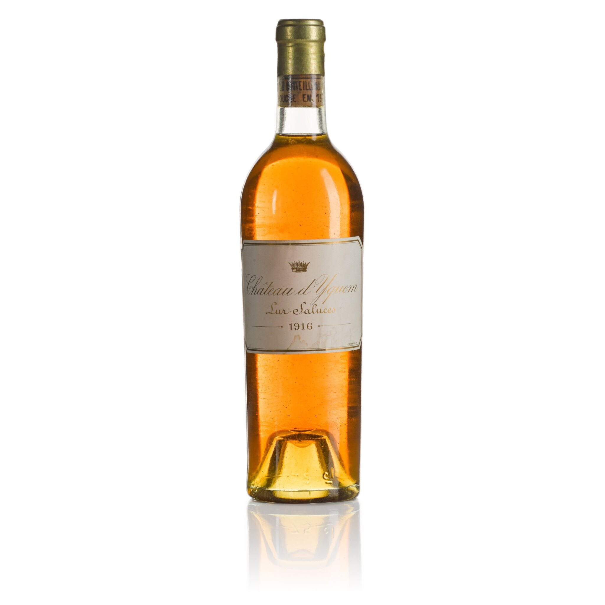 View full screen - View 1 of Lot 433. Château d'Yquem 1916  (1 BT).