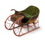 VERY FINE AND RARE POLYCHROME PAINT-DECORATED SALESMAN'S SAMPLE SLEIGH, W. HILL, SEBRINGVILLE, ONTARIO, CIRCA 1870