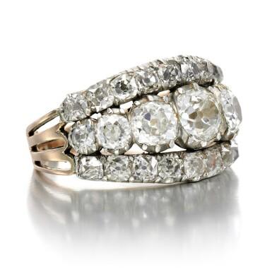 View 2. Thumbnail of Lot 2. Diamond ring, circa 1800.