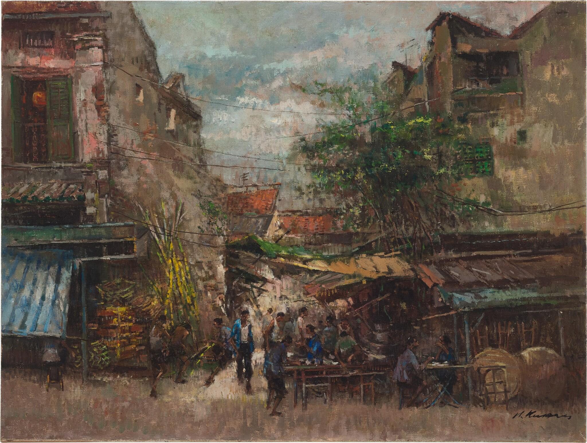 View full screen - View 1 of Lot 4586. Old Street Scene - S'pore | 新加坡的老街.