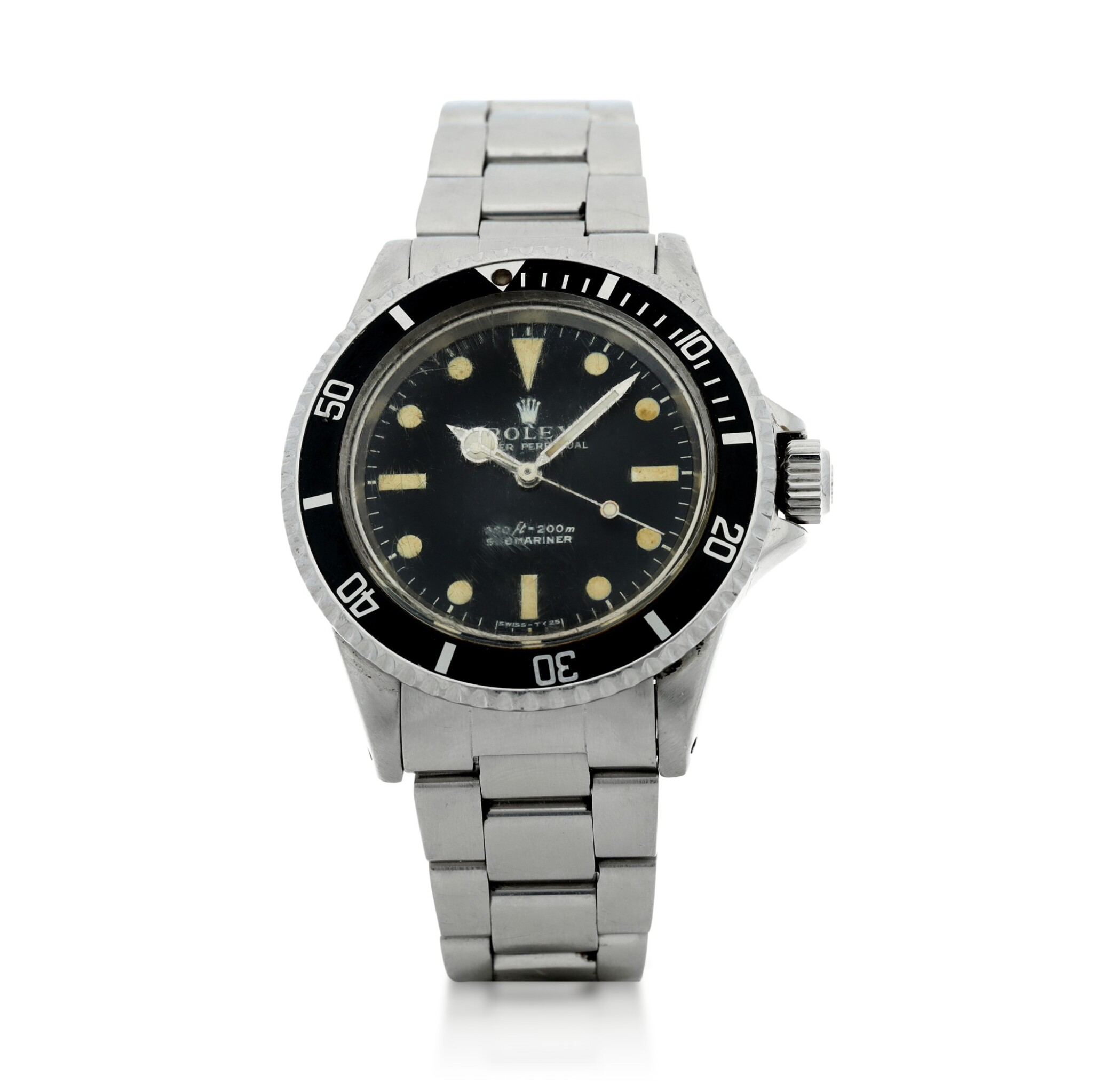 View full screen - View 1 of Lot 105. ROLEX | REFERENCE 5513 SUBMARINER A STAINLESS STEEL AUTOMATIC WRISTWATCH WITH BRACELET, CIRCA 1970.