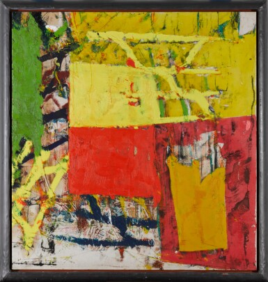 View 2. Thumbnail of Lot 35. Untitled (Yellow- Red Composition).