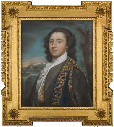 View 1. Thumbnail of Lot 17. ATTRIBUTED TO ARTHUR POND | PORTRAIT OF CLOTWORTHY SKEFFINGTON, 4TH VISCOUNT MASSEREENE, LATER 1ST EARL OF MASSEREENE (1715-1757), CIRCA 1751.