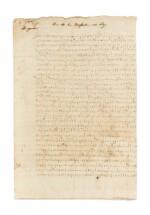 NEUFVILLE. Lettre chiffrée signée à Charles IX, avec quelques lignes autographes. Bergerac, 8 septembre 1571.