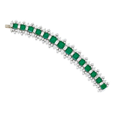 EMERALD AND DIAMOND BRACELET | 祖母綠配鑽石手鏈