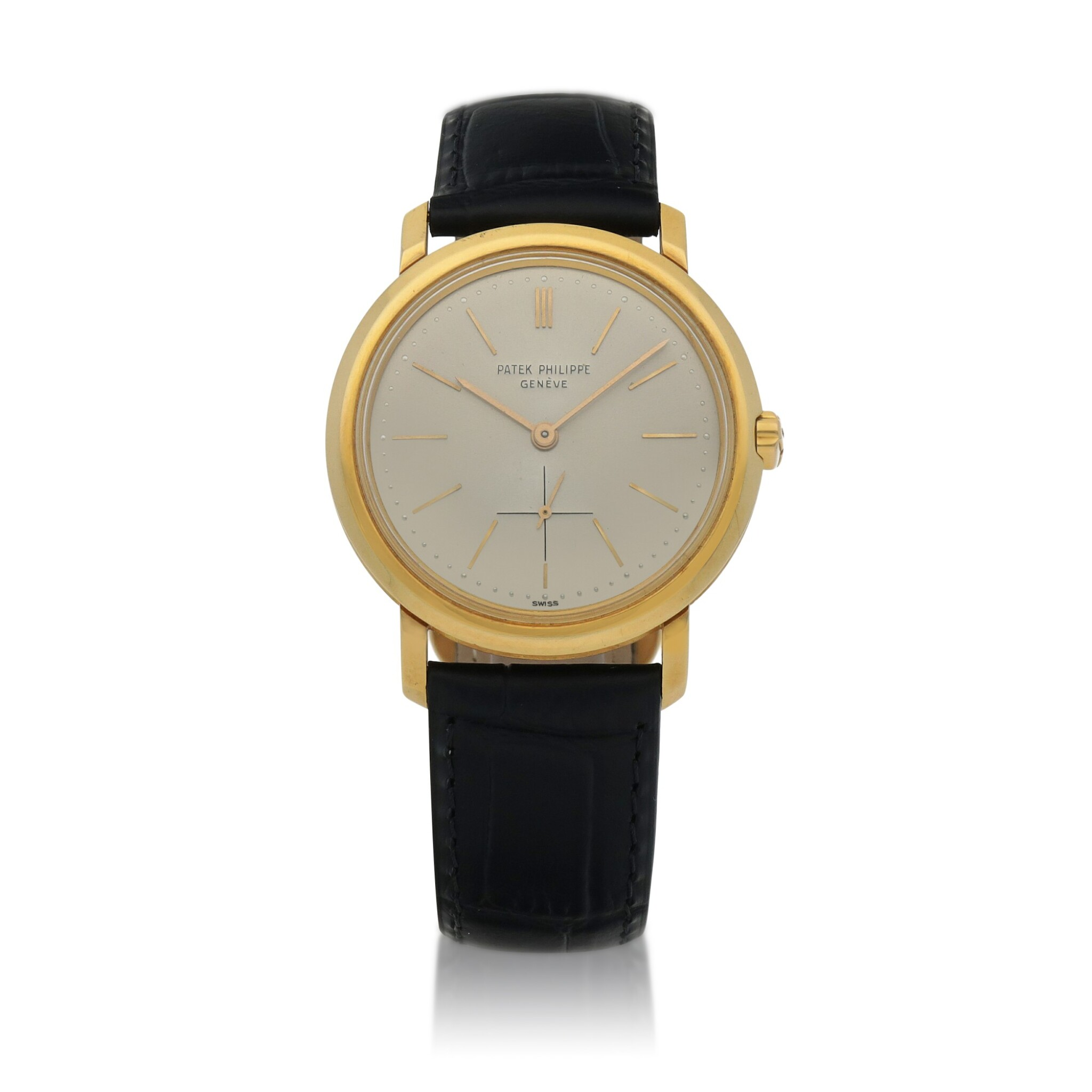 View full screen - View 1 of Lot 86. Ref. 3440 Yellow gold wristwatch Made in 1961   百達翡麗 3440型號黃金腕錶,1961年製.