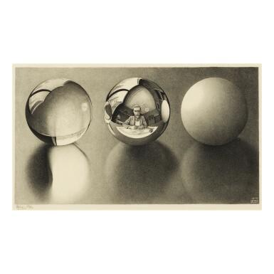 View 1. Thumbnail of Lot 101. M. C. ESCHER | THREE SPHERES II (B./K./L./W. 339).