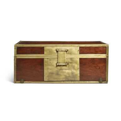 View 1. Thumbnail of Lot 115. A 'huanghuali' document box (Xiaoxiang), Qing dynasty, 18th / 19th century | 清十八 / 十九世紀 黃花梨長方形小箱.
