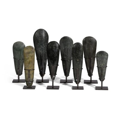 View 5. Thumbnail of Lot 80. Papua New Guinea, Lake Sentani, late 19th/early 20th century | Eight Adze Ceremonial Blades (Obligation Stones).
