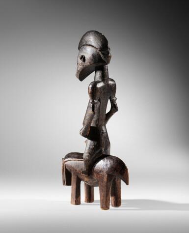 View 4. Thumbnail of Lot 61. Senufo Equestrian Figure, Côte d'Ivoire.