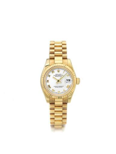 ROLEX | REF 179178 DATEJUST, A YELLOW GOLD AUTOMATIC CENTER SECONDS WRISTWATCH WITH DATE AND BRACELET CIRCA 2003